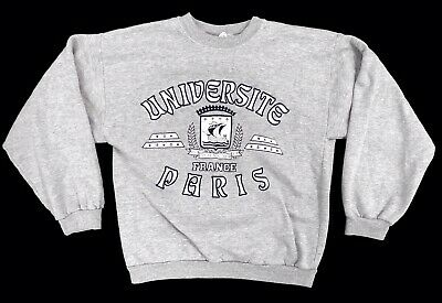 Vintage Universite de Paris Sorbonne Adult M Medium France Pullover Sweatshirt