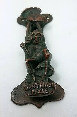 Antique 1919 Art Nouveau Dartmoor Pixie Mushroom Toadstool Bronze Door Knocker