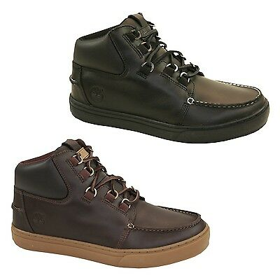 TIMBERLAND NEWMARKET LACE Up Side Zip Junior Brown Leather