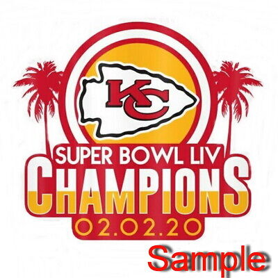 Kansas City Chiefs Super Bowl Champions 2020 LIV 54 iron on patches ZII