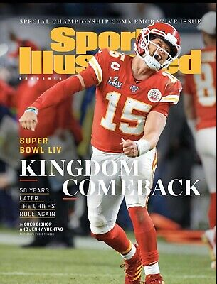 Sports Illustrated (SI) Kansas City Chiefs Super Bowl 54 Champs 8.5 X 11 Print