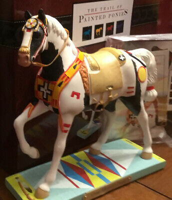 CROW WARRIOR'S PRIDE, Trail Òf Painted Ponies, 1E NEW Resin Figurine, Box, Tag.