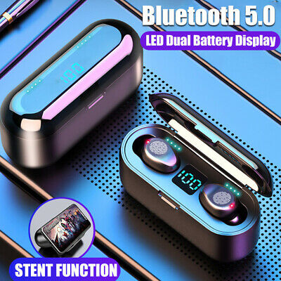 TWS Bluetooth 5.0 Headset Wireless Earphones Mini Earbuds Stereo Headphones 8D