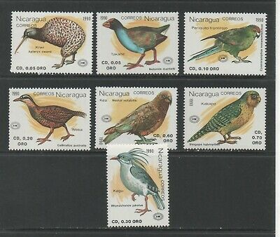 Thematic Stamps Animals - NICARAGUA 1991 NZ90 BIRDS 7v 3071/7 mint