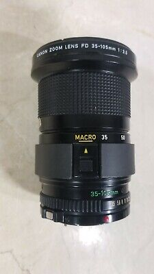 Canon FD 35-105mm f/3.5 Zoom MF Lens Free Shipping!