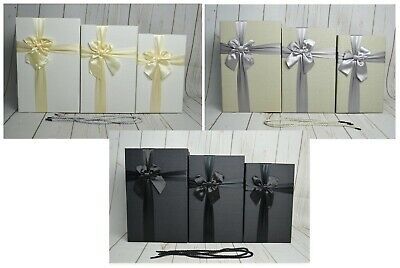 Rectangle Shaped Florist Hat Boxes x 3 cord handles Valentines Flowers Gifts