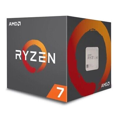 AMD Ryzen 7 2700X CPU with Wraith Cooler, AM4, 3.7GHz (4.3 Turbo), 8-Core,.