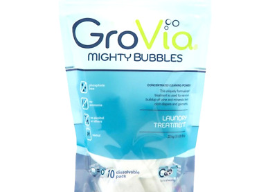GroVia Mighty Bubbles Laundry Treatment for Baby Cloth Diapers (10 Count)