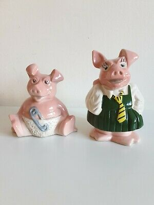 NatWest Pig money box - Annabel & woody- Wade pottery with Nat West Stopper
