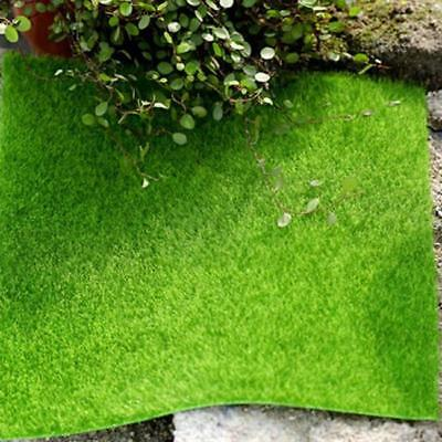 Plastic Square Artificial Grass Mat Thick Greengrocer Fake Turf Lawn Decor BB