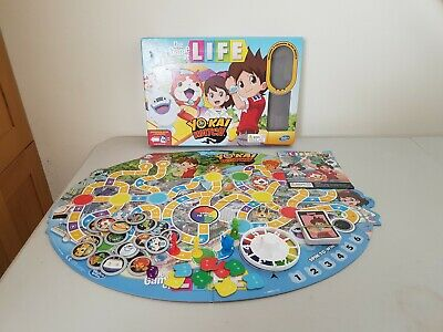 The Game Of Life Yo-Kai Watch Edition Board Game Hasbro 2015 Complete