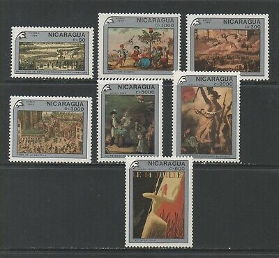 Thematic Stamps Others - NICARAGUA 1989 FRENCH REVOL'N 3052/9  7v mint
