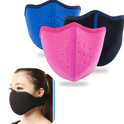 Winter Anti-dust Face Mask Breathable Thermal Fleece Mouth Cover Cold Proof