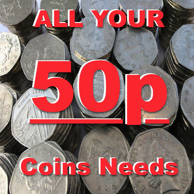 ALL 50p COINS FIFTY PENCE COIN 1969 TO 2020 NEW COINS ADDED ALL THE TIME