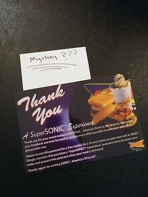 SONIC Combo Meal Voucher  PLUS Mystery Combo Meal Voucher  (No Expiration)