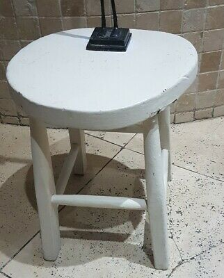 Antique Vintage Painted Distressed Milking Stool