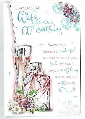 Wife 60th Birthday Card 'To My Special Wife On Your 60th Birthday' With Senti...