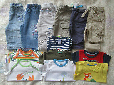 Baby Boy Spring Summer Bundle Trousers t-shirts Size 6-9 months