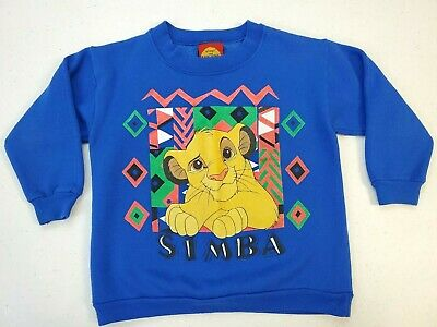 Disney's The Lion King Vintage 1990s Simba Graphic Sweater Youth Size M  USA