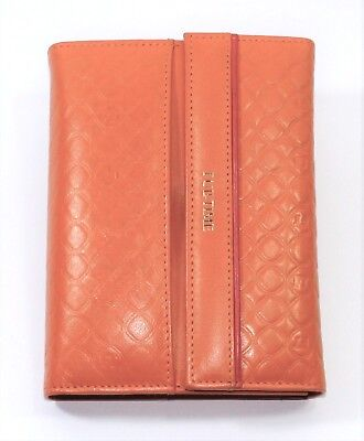 Organiser Small Real Leather Orange Port Weave Documents Woman 6 Rings