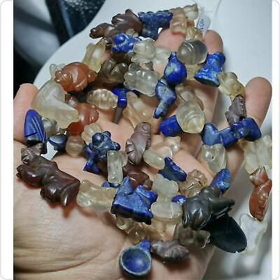 70 pcs SALE ! Ancient Roman Lapis Agate jade crystal jasper Animals stones Beads