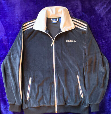 ADIDAS CHALLENGER VELOUR Track Jacket Full Zip Gray BR2271
