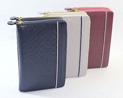 Organiser Small with Wallet Woman Real Leather Rings Slim Port Card Small Change