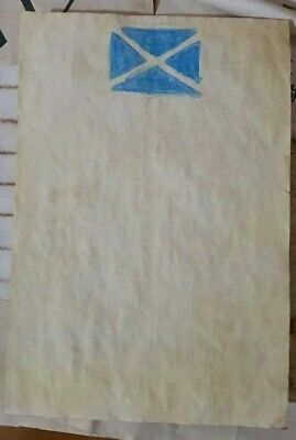 Stained Paper Saltire Symbol Watercolour Sigil Journal Grimoire Spellbook