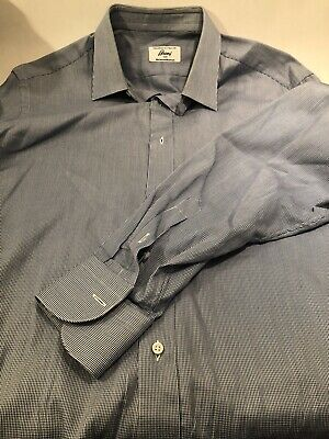 Brioni For Neiman Marcus - Made In Italy - 100% Cotton - Size 16 Large! Blue