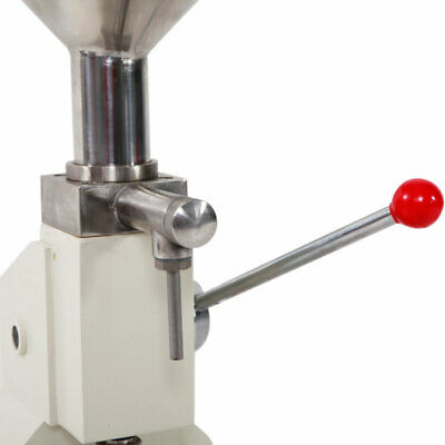 Fully Equipped Stainless Steel Manual Filling Machine A03 Silver & White