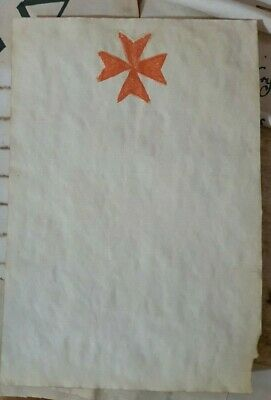 Stained Paper Templar Cross Symbol Watercolour Sigil Journal Grimoire Spellbook
