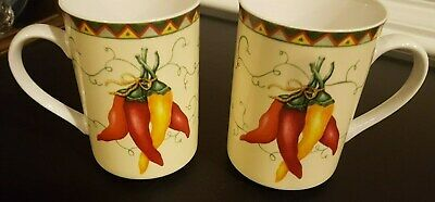 American Atelier Chili Peppers 5293 Dinner Plates
