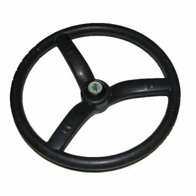 New Steering Wheel 3 Spoke Black Rubber Made For Massey Ferguson Tractors S2u