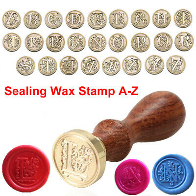 Retro Classic Alphabet Initial Sealing Wax Seal Stamp Invitations Letter A-Z UK