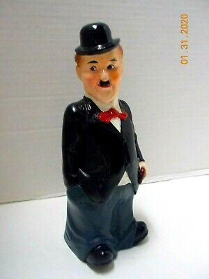 Vintage Japan CHARLIE CHAPLIN COIN PIGGY PIG BANK / FIGURINE-Excellent Condition