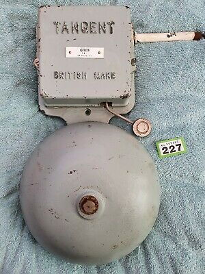 Vintage Industrial School Bell Tangent 24v Electric Fire Alarm Railway Gents wrk