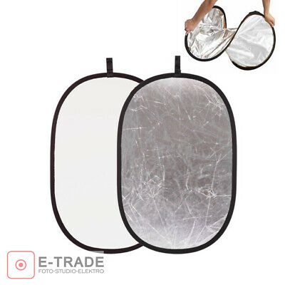 SILVER / WHITE - 2in1 Photo Disc Collapsible Light Reflector Photography Studio