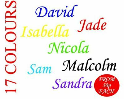 Personalised Name / Word Vinyl Decal Sticker Glass School Water Bottle Christmas