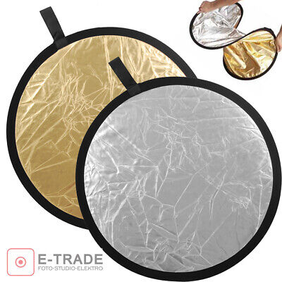 SILVER / GOLD - 2in1 Photo Disc Collapsible Light Reflector Photography Studio