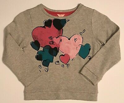 Jigsaw Junior Girls Sweatshirt Grey/Multi Age 6-7 Bnwot