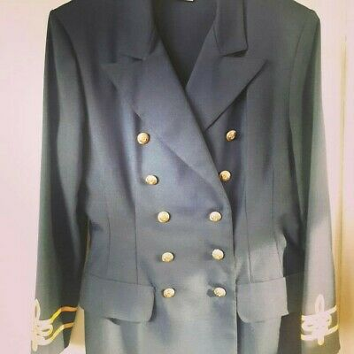 Ladies Vintage Navy Naval StyleTwo Piece Suit, size 12