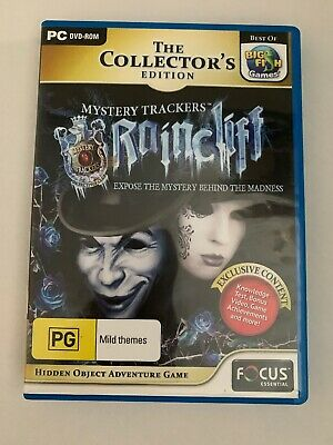 Mystery Trackers Raincliff Game PC DVD Hidden Object Mystery Puzzle Adventure