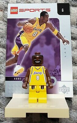 LEGO SPORTS  NBA Basketball Kobe Bryant Los Angeles Lakers Minifigure with Card