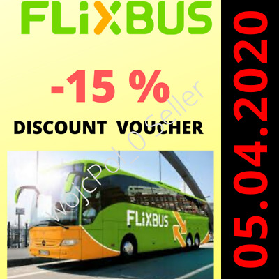 Flixbus 15% off voůÇher APP ⚡️FAST DELIVERY⚡️24/7⚡️ works on SINGLE TICKET ALSO