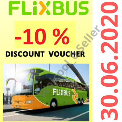 2 x 1 Flixbus 10% Buono Sconto Coupon Discount Voucher Rabatt