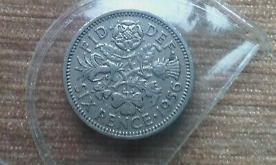 British Silver Sixpence 1956 Birthday Year Coin Jewellery Making
