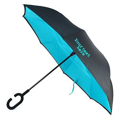 Double Layer Inside Out Folding Umbrella Upside Down Umbrellas with C-Shaped Handle for Women and Men Reverse Inverted Windproof Capricorn Head Umbrella