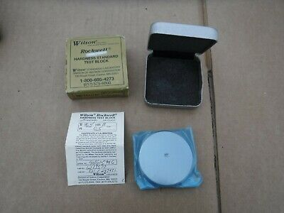 NEW Wilson Rockwell Hardness Standard Test Block Scale B 96.4 HR NOS Inspection