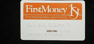 FirstMoney First National Bank and Trust Illinois exp 1983♡Free Shipping♡ cc776
