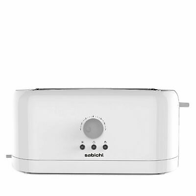 4 Slice Toaster White 1300W  Varible Browning With Removable Crumb Tray
